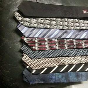 8 assorted silk ties